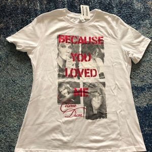 Celine Dion Vegas T Shirt Because You Loved Me M